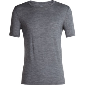 Icebreaker Tech Lite Crew Top T-shirt Heren, gritstone heather